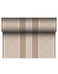 Camino mesa papel aspecto tela decorado color marrón Royal Collection 24 m x 40 cm Elegance