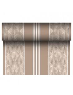 Camino mesa papel aspecto tela decorado marrón Royal Collection 24 m x 40 cm Elegance