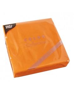 Servilletas papel económicas color naranja 38 x 38 cm microgofrado Punto