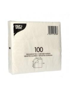 Servilletas de papel económicas blancas básicas 33 x 33 cm