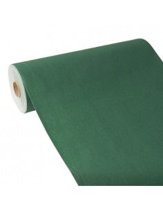 Camino de mesa papel aspecto tela verde oscuro Royal Collection 24 m x 40 cm
