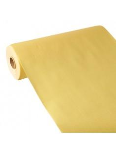 Camino de mesa papel aspecto tela amarillo Royal Collection 24 m x 40 cm