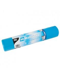 Sacos basura plástico reciclado color azul 120 litros
