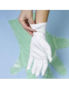 Guantes de algodón camarero color blanco Talla XL