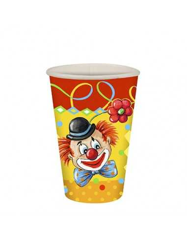 Vasos cartón fiestas infantiles payaso compostables 200ml