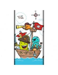 Mantel de papel fiestas infantiles Piratas compostables 120 x 180cm