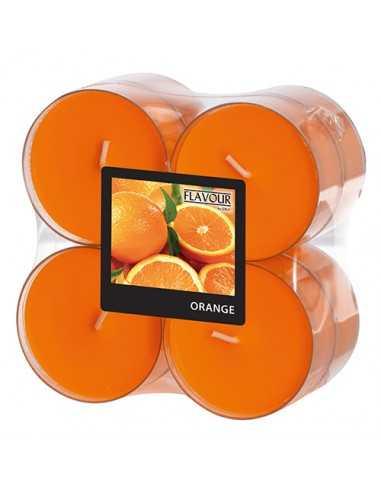 Velas lamparilla perfumadas naranja color naranja maxi Ø 59 x 24mm