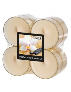 Velas lamparilla perfumadas vainilla color marfil maxi Ø 59 x 24mm