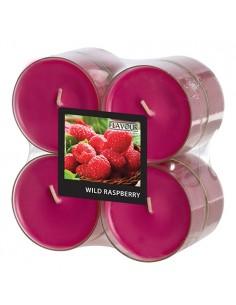Velas lamparilla perfumadas frambuesa color rojo maxi Ø 59 x 24mm