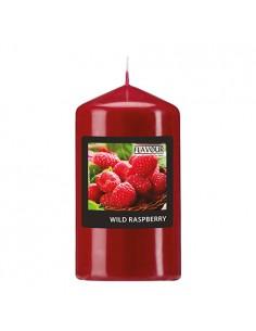 Vela de taco aromática frambuesa color rojo Ø 58 mm x 110 mm