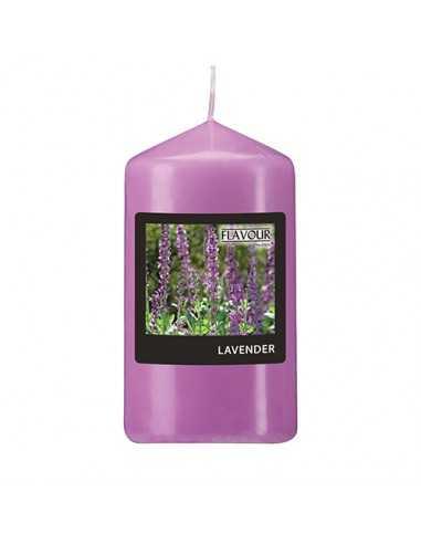 Vela de taco aromática lavanda color violeta Ø 58 mm x 110 mm