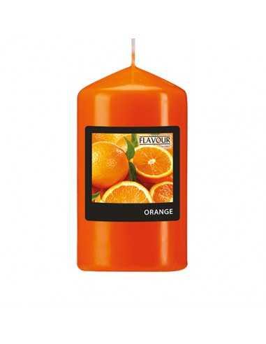 Vela de taco aromática naranja color naranja Ø 58 x 110 mm