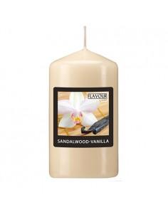 Vela de taco aromática vainilla color marfil Ø 58 x 110 mm
