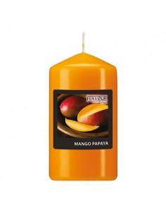 Vela de taco aromática mango papaya color naranja Ø 58 x 110 mm