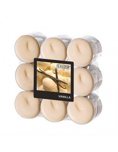 Velas lamparilla perfumadas vainilla color crema maxi Ø 37,5 x 16,6mm