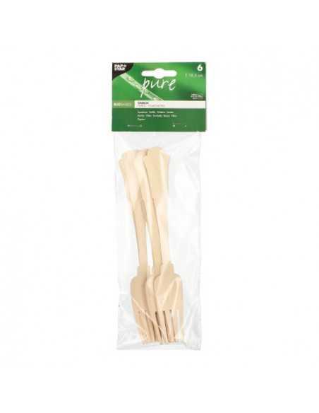 Tenedores de madera abedúl natural vintage 19,5 cm Pure