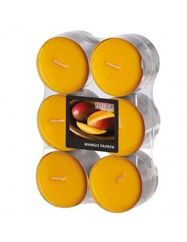 Velas lamparilla maxi perfumadas mango papaya color naranja Ø 58 x 24mm