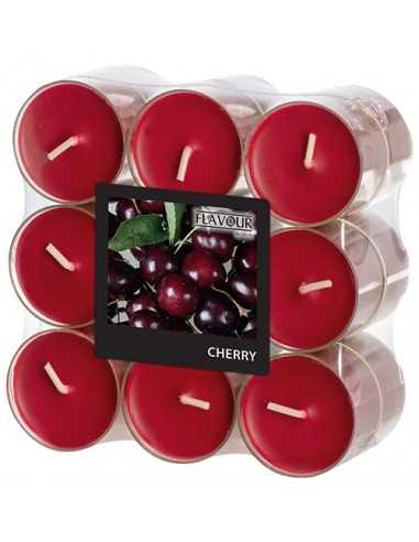 Velas lamparilla perfumadas cereza color burdeos Ø 38 x 24mm