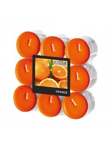 Velas lamparilla perfumadas y color naranja Ø 37,5 x 16,6mm