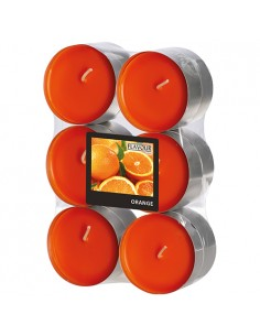 Velas lamparilla maxi perfumadas naranja color naranja Ø 58 x 24mm