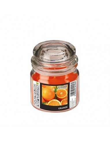 Vela en frasco cristal maxi perfumada naranja Ø 90 x 120mm