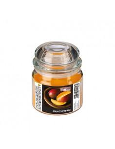 Vela en frasco cristal maxi perfumada mango papaya Ø 90 x 120mm