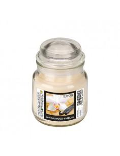 Vela en frasco cristal cera aromática vainilla Ø 63 x 85mm