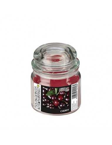Vela en frasco cristal maxi cera perfumada cereza Ø 90 x 120 mm