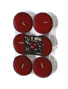 Velas lamparilla perfumadas cereza color burdeos maxi Ø 58 x 24mm