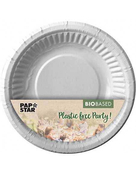 Boles cartón color blanco redondos Ø 19mm compostables 100%