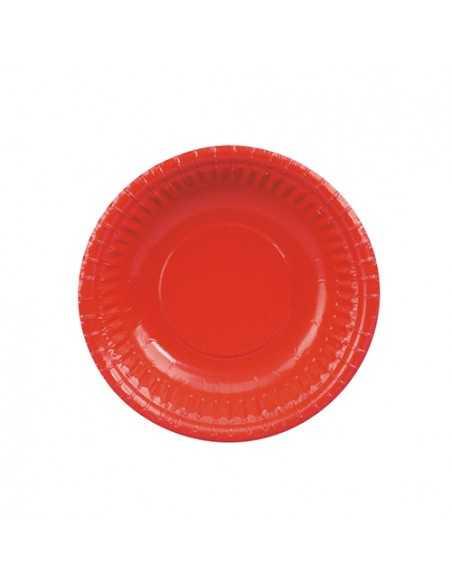 Boles cartón color rojo redondos Ø 19 cm compostables 100%