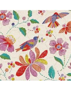 Servilletas de papel decoradas colores Brasil 33 x 33 cm