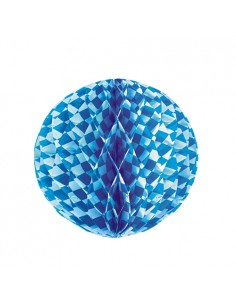 Bola decorativa de papel decoración fiestas Baviera azul Ø 30cm