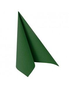 Servilletas de papel verde oscuro Royal Collection 40 x 40 cm