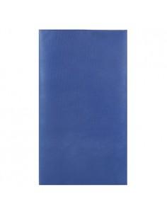 Mantel individual aspecto tela papel azul oscuro 120 x 180 cm Soft Selection