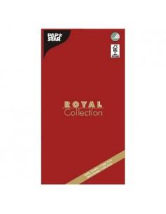 Mantel de papel individual rojo 120 x 180 cm Royal Collection