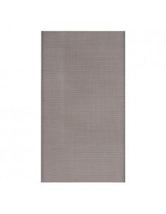 Mantel individual aspecto tela papel gris 120 x 180 cm Soft Selection