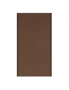 Mantel individual aspecto tela papel marrón 120 x 180 cm Soft Selection