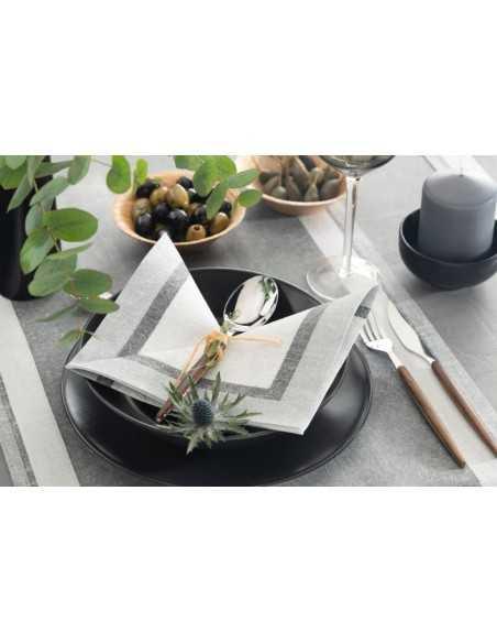 Servilletas de papel decoradas Royal Collection 40 x 40 cm Chalk gris