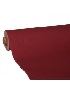 Rollo mantel de papel color burdeos Royal Collection 25 x 1,18 m