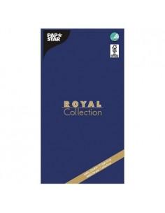 Mantel de papel individual azul oscuro120 x 180 cm Royal Collection