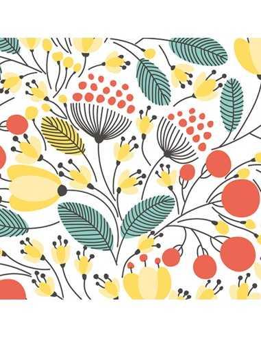 Servilletas de papel decoradas estampado floral 33 x 33 cm