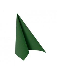 Servilletas papel aspecto tela verde oscuro Royal Collection 25 x 25cm
