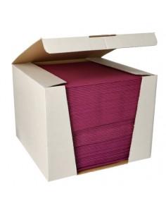 Servilletas papel aspecto tela color morado Royal Collection 40 x40 cm