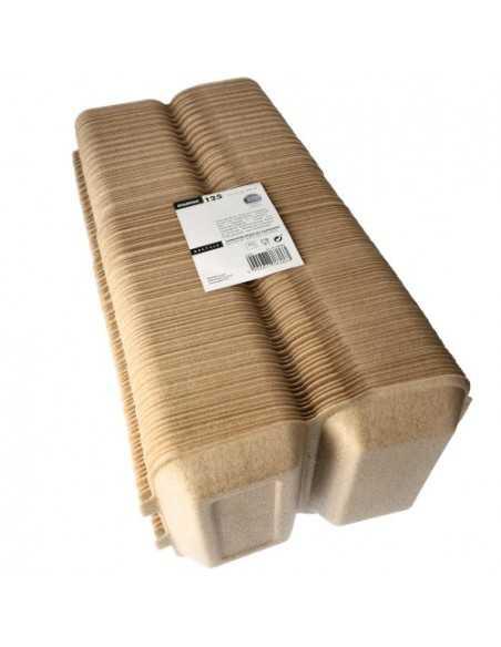 Envases tapa bisagra para menús para llevar beige 24,4 x 15 cm