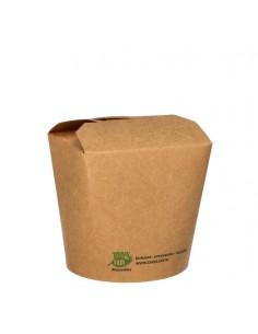 Envases comida para llevar cartón marrón 760 ml Pure 100% Fair
