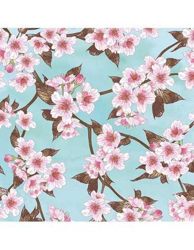 Servilletas de papel decoradas flores cerezo 33 x 33 cm