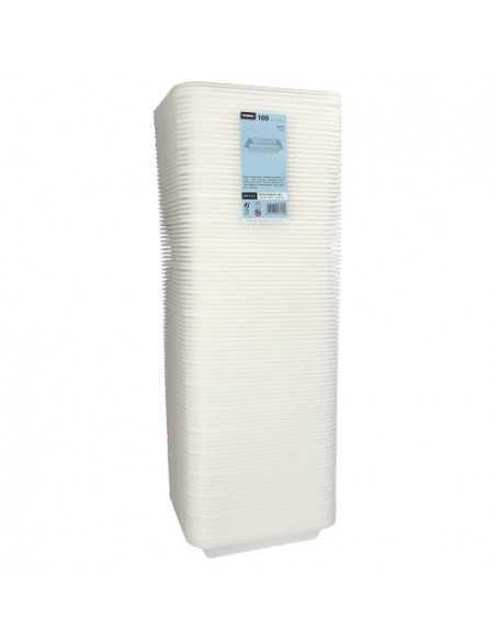 Bandejas para menú termosellables blancas 2 compartimentos XPS 975ml