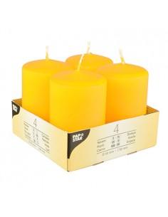 Velas de taco color amarillo para decoración Ø 50 x 80 mm