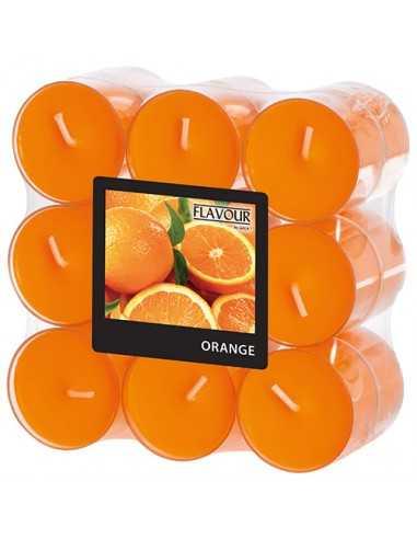 Velas lamparilla perfumadas y color naranja maxi Ø 38 x 24mm